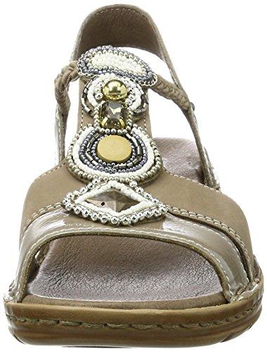 Sandalo Ara Hawaii Sandalo Cinturino Alla Caviglia Beige (taupe, Cotone)
