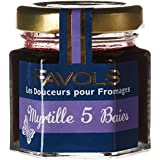 FAVOLS Douceurs pour Fromages Myrtille 5 Baies 50 g - Lot de 10
