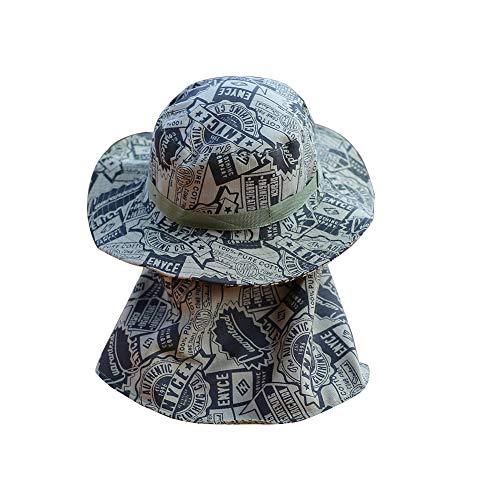 Angeln-Hüte und Gesicht abdecken Abnehmbare Gitter Hals Gesicht Klappe Gärtner Sommerhut für Outdoor-Sportarten Outdoor Angeln Schutzkappe (Tarnung)