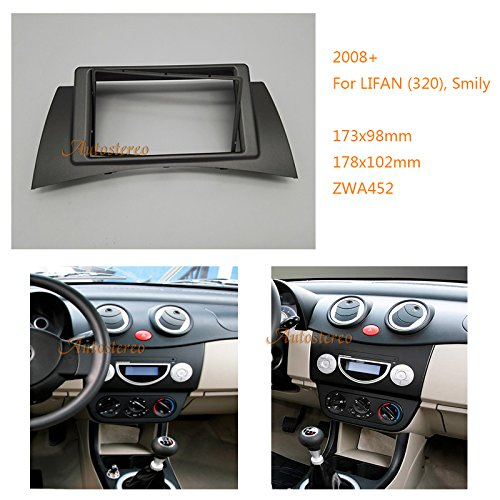 autostereo 11-452 Lifan (320) voiture Radio Façade d'autoradio façade d'autoradio panneau adaptent pour LIFAN 320 Smily 2008 + façade d'autoradio stéréo Radio de Voiture