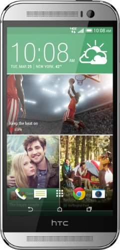 HTC ONE M8 32GB plata smartphone como NUEVO en su embalaje original (11.9 cm (4.7 inch) pantalla FULL HD, ultra pixel camara) 2 GB RAM,BoomSound,LTE,NFC Blink,Android movíl con Accessorios HTC.