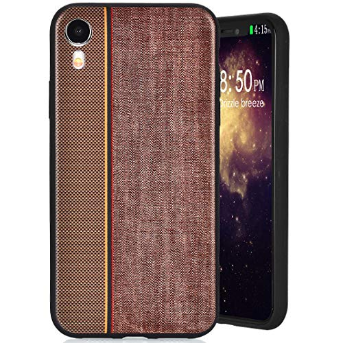 MeganStore Coque For IPhone XR 2018 Silicone,Mode Contraste Ultra Mince Leger Silicone TPU Doux Etui de Protection Anti-Choc Anti-Rayures Antidérapant Pare-Chocs Etui Housse For IPhone XR 2018,Marron