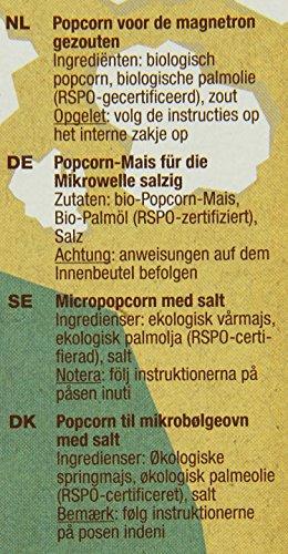 Yum Kah BIO Popcorn für die Mikrowelle salzig, glutenfrei - 3