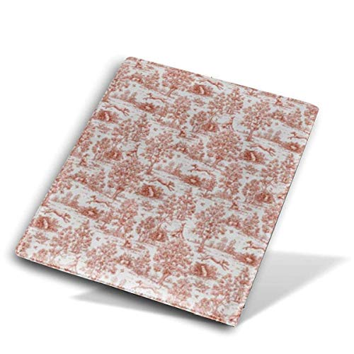 itruty Gray And Burgundy Greyhound Toile Jumbo Copertine del Libro Fits Most Hardcover Manuales Up to 9'X 11' for Students PU Leather Washable And Reusable