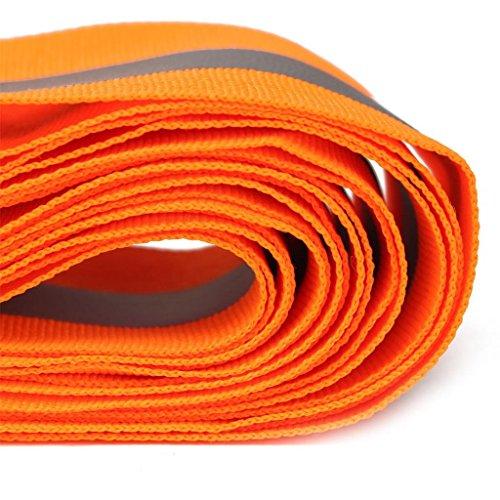 Bande Réfléchissante Bande de Sécurité Coudre sur la Chaux Tissu de Synthé 3 Mètres