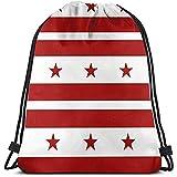 Arvolas Turnhalle Kordelzug Taschen Flagge des Bezirks Columbia String Pull Bag String Rucksack...