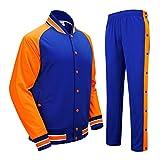 Basketball Jacke und Hosen, AresKo Basketball Aufwärmen Jacke und Hosen Varsity Jacke und Hose für Herren Frauen