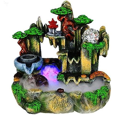 MYM Giardino roccioso e l'acqua fontane arredamento casa mestiere regalo fortunato tavoli salotto che ornamenti (Tavolo Cornucopia)