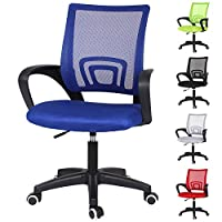 Blue Executive Office Chair Computer Desk Chair Ergonomic Mesh Chair with Lumbar Support Swivel Chair Armchair Home Office Furniture