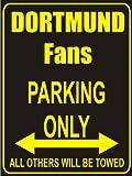 Indigos UG - Parking Only - Dortmund - Garage / Carport - Parkplatzschild 32x24 cm schwarz/silber - Alu-Dibond - Folienbeschriftung