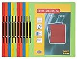 Idena 300041 - Kartonschnellhefter in A4, 10 Stück, grün/gelb/rot/blau/orange
