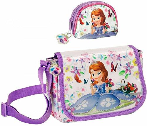 Sofia die Erste Schultertasche und Geldbeutel Disney (Die Geldbörse Sofia Erste)