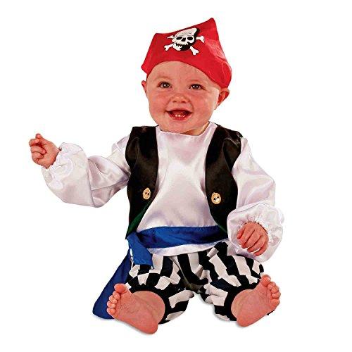 Baby Kostüm Piraten (Piratenkostüm für Babys und Kleinkinder - Pirat Seeräuber Kostüm - Gr 92 (18-24 Monate) Slimy)
