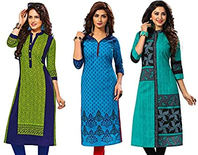 Jevi Prints Women's Cotton Dress Material (Saheli-1407-1509-1512_Free Size_Multi-Coloured)