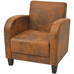 vidaXL Sillón marrón 73x72x76 cm