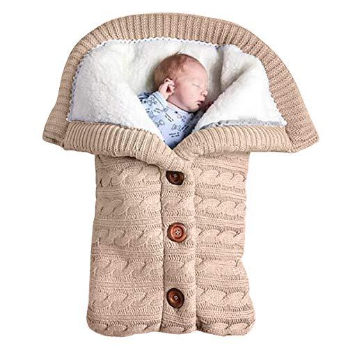 Yinuoday - Manta para bebé recién nacido con terciopelo para cochecito de bebé, manta de forro polar suave y cálida para niños y niñas beige beige Talla:25.6 * 15.7 inch