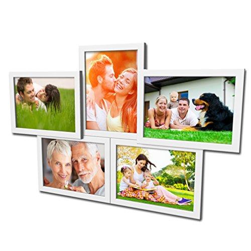 Artepoint Fotogalerie für 5 Fotos 13x18 cm - 3D 503 Optik - Bilderrahmen Bildergalerie Fotocollage Rahmenfarbe Weiß