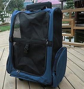 DLUF Sac de voyage pour animaux / Roulette double / Tiroirs Boîte / Sac à dos portatif pour chat et chien / Nid d'animal familier / Matériel en tissu Oxford , 4-Small