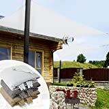 Voile d'ombrage carré casa pura® balcon, pergola, jardin   polyéthylène, résistant   rectangle, anti uv   5x5m, blanc