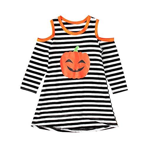 Halloween Kürbis, Halloween Kostüm Mädchen Fasching Karneval Party Cospaly Costume Kürbis Kostüm Baby Pumpkin Prinzessin Kleider Tüllrock Riou (120, Orange A) (Baby Zorro Kostüm)