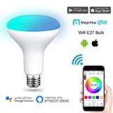 Magic Hue LED Smart 11W Lampe WIFI RGBWW Beleuchtung dimmbar Energiesparlampen, mit Alexa&Google Home&IFTTT,Sunrise Farbige Leuchtmittel Sonnenaufgang, Smart E27 und E26 16 Mio Farben für Android und IOS (Farben Atmosphäre,Gegenwert 80W Lampe)