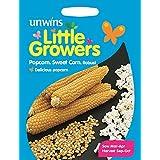 Unwins Pictorial paquetes–Little los cultivadores Sweet maíz palomitas robusto–50semillas