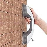 Queta Haltegriff mit Saugnapf für Senioren Mobiler Sauggriff im Badezimmer Badewanne Toilette Sicherheit Duschgriff Wannengriff für Bad Dusche