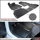 OMAC Allwetter Auto Hohe 3D Gummimatten Fußmatten Automatten Schwarz 4 Teilig