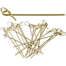 Prakritii cultivating green Bamboo Skewer | Knot Skewer |Barbeque Skewer | BBQ Skewer [9 cm /3.5 inches ] {Pack of 100}