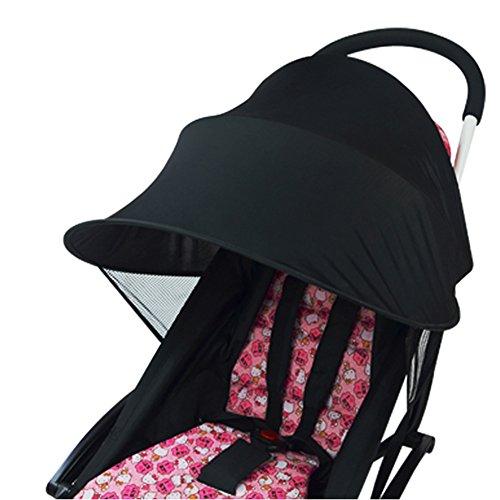 Parasole per passeggino, passeggino con telo anti-UV, con copertura antivento, antipioggia, con protezione solare, ombrello parasole