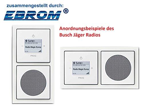 Preisvergleich Produktbild Busch Jäger Unterputz UP WLAN iNet Internetradio 8216 U (8216U) studioweiß Future Komplett-Set // Radioeinheit + Lautsprecher + 2-fach Rahmen + Abdeckungen