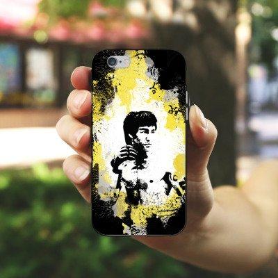 Apple iPhone 5s Housse Étui Protection Coque Bruce Lee Kungfu Karaté Housse en silicone noir / blanc