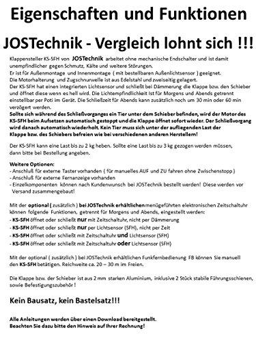 automatische Hühnerklappe mit Klappe/Schieber - Sommeraktion vom Hersteller bis 01.08.2017!! - 2