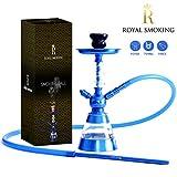 ROYAL SMOKING shisha design narghilè in acrilico di qualità 38cm Blu tubo camino e piatto