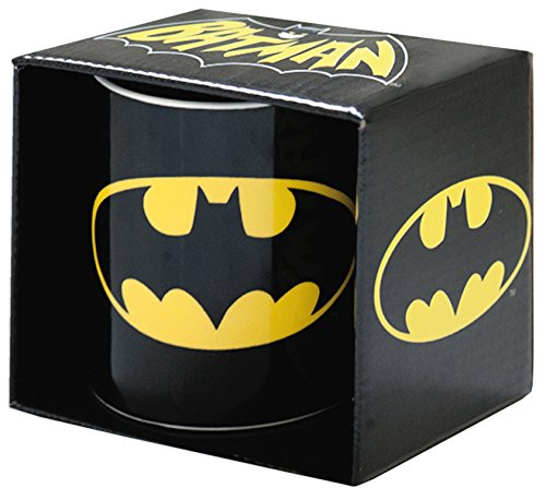 Klang & Kleid, Logoshirt, Tazza di Batman, Nero (Schwarz)