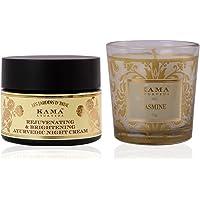 Kama Ayurveda Rejuvenating & Brightening Ayurvedic Night Cream With Natural Jasmine Candle