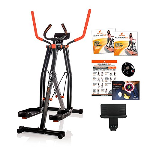 High Street TV Maxi-Glider 360 mit Widerstand Ebenen - Die 10 Home Exercise Fitness Trainer (Air Walker/Cross Trainer) enthält Heart Rate Monitor & Tablet Halterung (AS SEEN ON