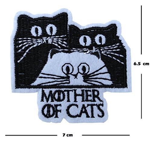 Mutter der Katzen Stickerei Patch Eisen auf oder Nähen auf Motiv Got Transfer Feline Lover Aufnäher