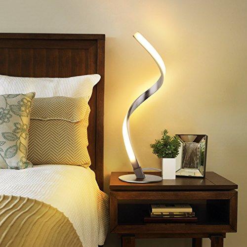Albrillo lampada da tavolo a spirale, moderna lampada da letto a LED,...