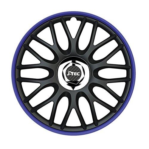 4X Radzierblenden 14 Zoll Orden Blau R (Schwarz/Blau) passend für z.B. Mazda für 3 MPS BK Blau 14