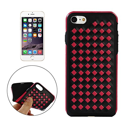 Phone case & Hülle Für iPhone 6 / 6s, Diamond Knit Texture TPU Paste Haut Schutzhülle ( Color : Blue ) Magenta