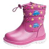 Anguang Mädchen Winter Schnee Warm Knöchel Stiefel Schuhe Lila 1 27