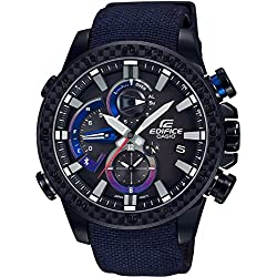 EDIFICE Bluetooth Triple Connect Toro Rosso Special Edition – Unisex cronógrafo – azul