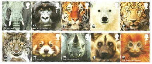 wwf-stamps-10-first-class-royal-mail-mint-stamps-2010-world-wildlife-fund-stamps-featuring-polar-bea
