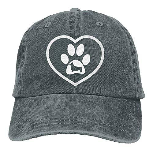 Preisvergleich Produktbild Vidmkeo 2018 Adult Fashion Cotton Denim Baseball Cap Corgi Heart Dog Silhouette Classic Dad Hat Adjustable Plain Cap Fashion28
