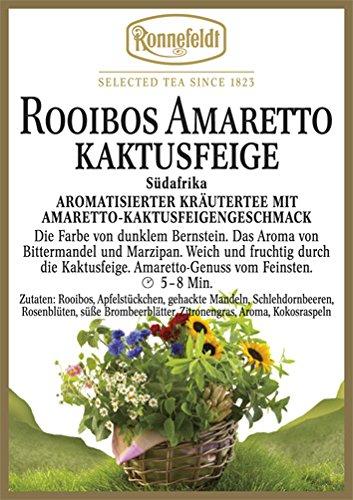 Ronnefeldt - Amaretto-Kaktusfeige - Aromat. Kräutertee aus Südafrika - 100g