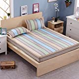 GAOXUE Cotton Active Twill Bed Mattress, Non-Slip Single Bed Cover, Fitted Sheets,...