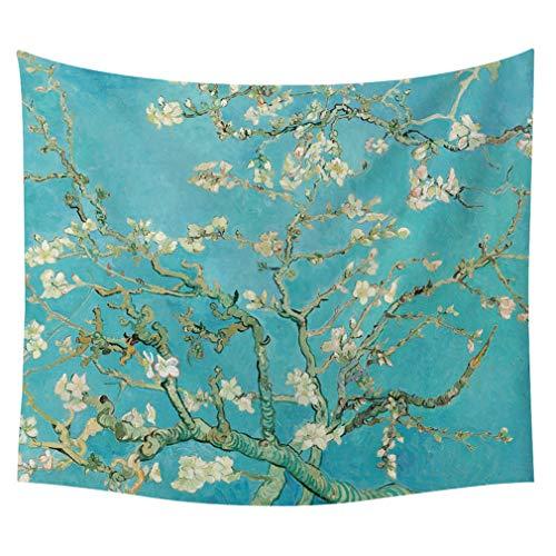 MIRUIKE Classic Van Gogh Canvas Serie Muster Decke warme weiche Decken werfen Strandtuch,E,60x50'' -