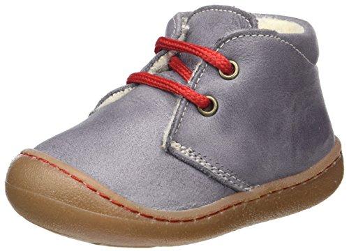 Pololo Unisex-Kinder Juan Wollfleece-Futter Bootsschuhe, Grau, 24 EU