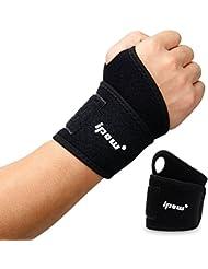 [ 2 PCS ] Ipow Wrist Wraps / Bandage Protection de Poignets / Serre-poignets soulager la douleur, Unisex, Convient toutes sortes de Sports